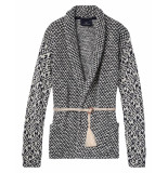 Scotch R'Belle Vest knitted blazer cardigan black/white zwart