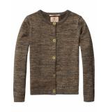 Scotch R'Belle Vest fine knitted cardigan dark green groen