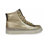 Eli Hoge sneaker in beige metallic leer-
