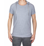 Pure White T-shirt hood tee grey grijs