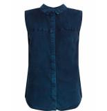 Numph Blouse no sleeve dress blues blauw