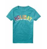 Scotch & Soda T-shirt holiday blue blauw