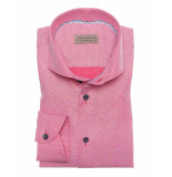John Miller Overhemd tailored fit contrast button pink rood