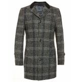 Bertoni of Denmark Jas checkered tweed grey grijs