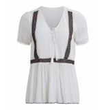 Vila Blouse summer blouse white wit