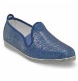 Flossy Style Instapper dames oliva blue shimmer blauw