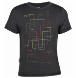 Icebreaker Grijs tech t lite east cape t-shirt