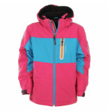 Color Kids Pink winter softshell jas jicola met 10.000mm waterkolom roze