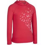 Icebreaker Junior bodyfit 200 l/s hoody flutter sari/white roze