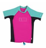O'Neill / aqua / zwart uv beschermend t-shirt spinella skins roze