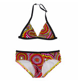 Just Beach Design kinder bikini flamingo zwart