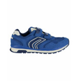 Geox Sneaker j pavel a mesh suede royal blauw