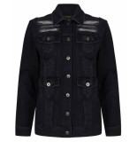 Supertrash Destroyed denim jacket black zwart