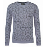 Kultivate 1701041026 311 sweater jefferson sterling blue blauw