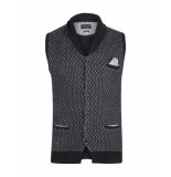 Cavallaro Vest pocket knitted grey grijs