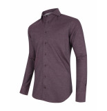 Cavallaro Overhemd casual bordeaux melange rood