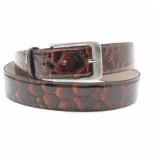 Scarpe Pazzo  Belt - brown pebble patent bruin