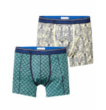 Scotch & Soda Boxer duo-pack print leaves blue