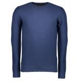 Hackett Trui ottoman crew navy sweater blauw