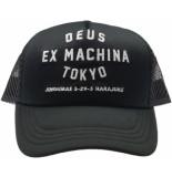 Deus Trucker classic cap tokyo black zwart