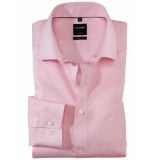 Olymp Overhemd modernfit check shirt light pink roze