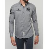 La Martina Overhemd polo shirt medium heather grey grijs