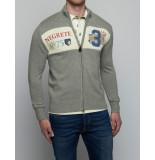 La Martina Vest man sweater full zip co/ws f 7 ligth heather grey grijs