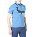 La Martina Polo man polo s/s piquet stretch palace blue blauw