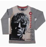 Boys in Control 502a grey melange shirt grijs melange