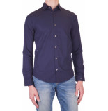 Cast Iron Favourite shirt ls peacot blue-2 s blauw