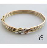 Atelier Christian Gouden tricolor armband met diamant rosé goud