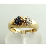 Casio Ocn diamanten en saffieren ring