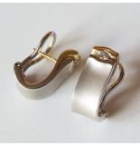 Christian Bicolor oorbellen met briljant geslepen diamant