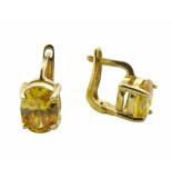 Atelier Christian Gouden oorbellen met citrien geel goud
