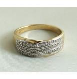 Christian 14 karaat gouden ring met diamanten