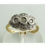 Christian Gouden bicolor ring met briljanten