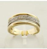 Christian 14 karaat ring met briljant geslepen diamant geel goud