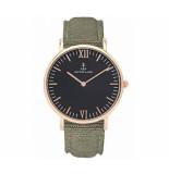 Kapten & Son Horloge black olive canvas campina 4251145223762