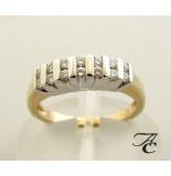 Atelier Christian Geel gouden ring met briljant geslepen diamanten