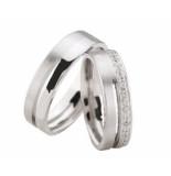 Christian 14 karaat diamanten trouwringen