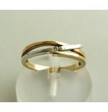 Christian Bicolor gouden ring met diamant geel goud