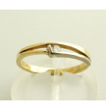Christian Bicolor diamanten ring geel goud