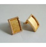 Christian 22 karaat gouden oorbellen met zirkonia