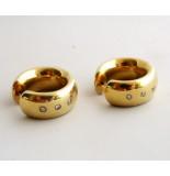 Christian Gouden oorbellen met diamant geel goud