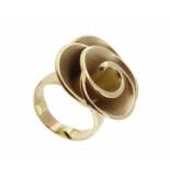 Christian Ring bloem model geel goud