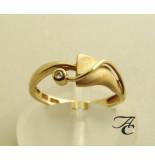 Atelier Christian 14 karaat ring met diamant geel goud