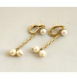 Christian Gouden oorbellen met parels