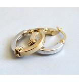 Christian Bicolor gouden oorbellen geel goud