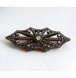Christian Antieke zilver op goud broche met roosdiamant