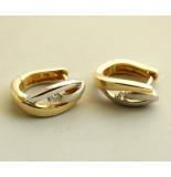 Christian Gouden oorbellen met diamanten geel goud